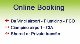 Rome airport transfer - FCO and CIA